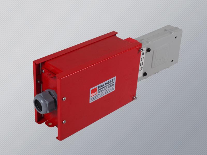Busbar power feeder unit