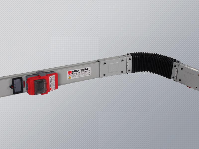 Busbar power flexible turn