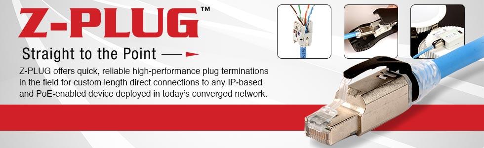 Siemon Z-plug field terminated